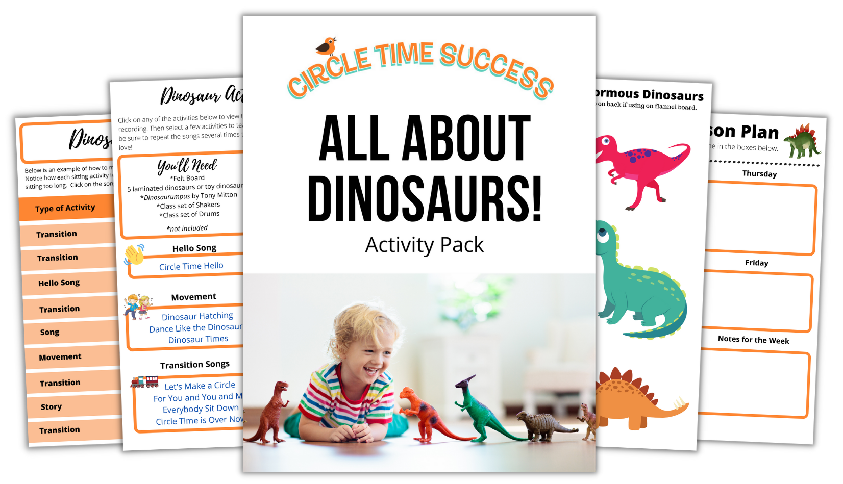 All About Dinosaurs Activity Pack | Circle Time Success